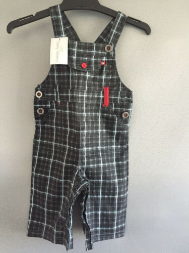BNWT Baby Boys Size 0 Teeny Weeny Brand Cute Checked Cotton Overalls RRP $35