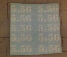 5.56      (10) Mag decals - sticker AR15 magazine S&W sticker 17