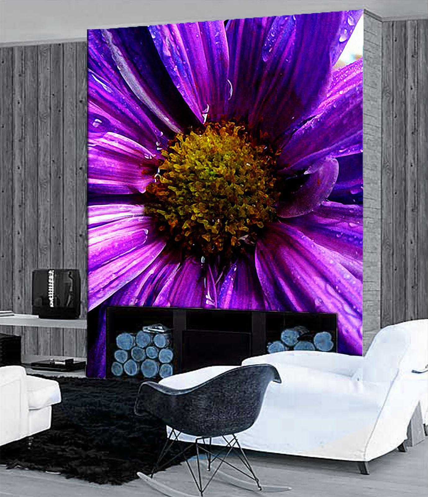 3D Purple Flower 895 Wall Paper Murals Wall Print Wall Wallpaper Mural AU Kyra