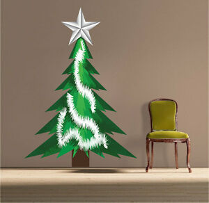 image is loading christmas tree wall decal winter tinsel decor christmas