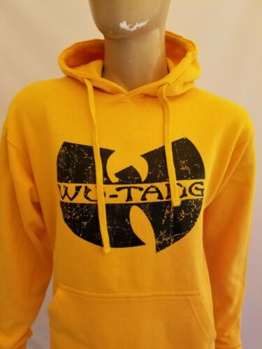 WUTANG Yellow  Pullover Hoodie WU-TANG Hoody Run Dmc NWA 2PAC DEATH ROW JAY-Z