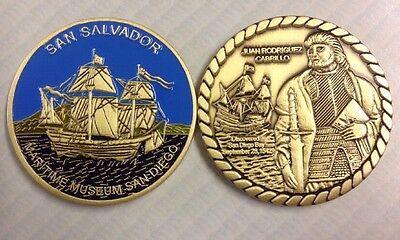 San Salvador Sailing Ship Souvenir Coin Juan Cabrillo