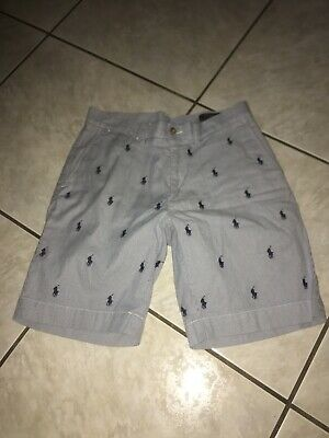 Polo Poplin Multi Pony Flat Front Shorts Mens Sz 31 Used Men's Shoes