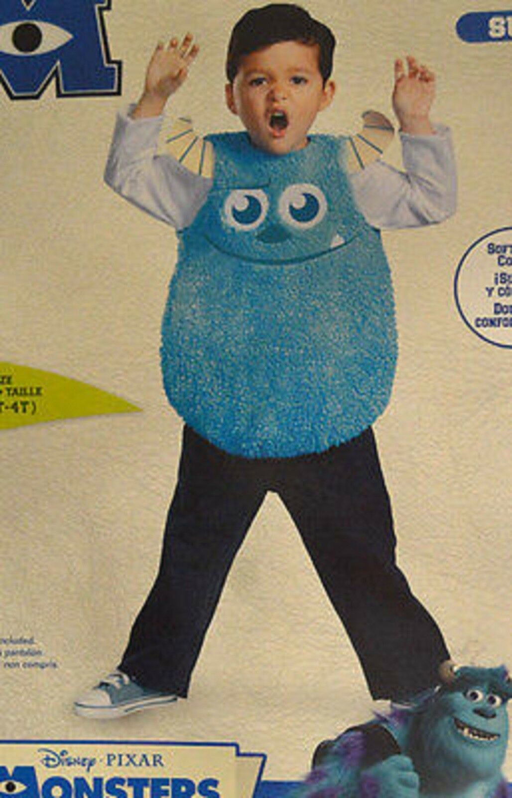 8137b6f5fba Toddler Monsters University Sulley Costume Size 3t-4t