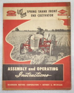 1947 Ford Tractor - Front End Cultivator - Assembly and Instructions