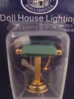 Dolls House Miniature 1:12th Scale Lighting Green Desk Lamp (de131)