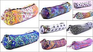 10 Pc Wholesale Lot Yoga Mat Bag Printed Mat Carrier Bags With Shoulder Strap