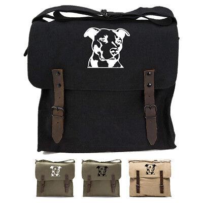 Adjustable Shoulder Strap Messenger Bag Pitbull Unisex Backpack Shoulder Crossbody Bag