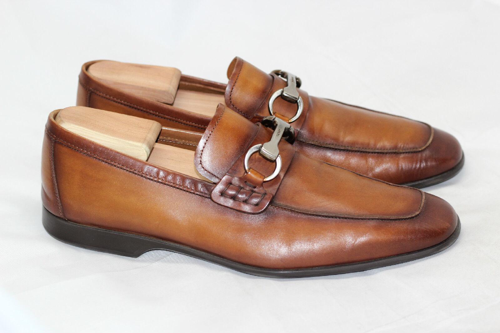 Mens Magnanni Rafa II Bit Loafer shoes Slip On - Cognac Brown - 8M - 18456 (T65)