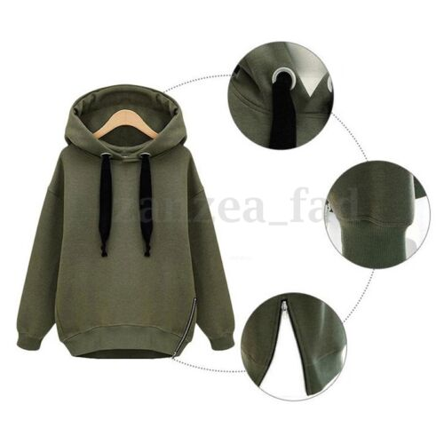Femmes Capuche Sweatshirt Hoodie Sweatjacke Pullover Capuche Automne Manteau