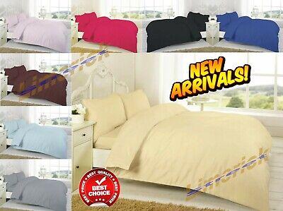 Gutherzig Top Qualität 100% Ägyptische Baumwolle Tc 200 Bettbezug Sets Alle Größen Bettwäsche Bettwaren, -wäsche & Matratzen