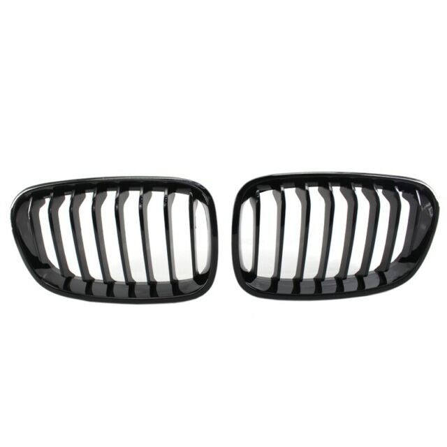 Bright Black Front Kidney Grill Grille For Bmw F20 F21 1 Series 2011-2014 X2D2