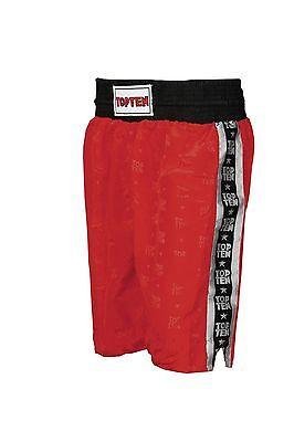 2019 Moda Top Ten-boxing Shorts Pagine Con Strisce. Rosso. S-xxl. Box Da Competizione.-. Rot. S-xxl. Boxen. Wettkampf It-it