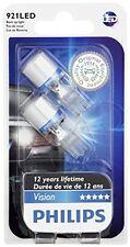 Philips 921 Bright White Vision LED Back-up light, 2 Pack