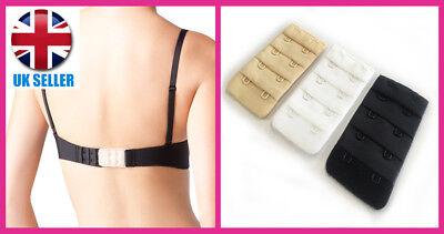 Rixie Clip  Bra Tightener // Extender 2 or 3 Hook White Black Nude 3 Pack