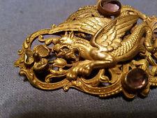 Very Beautiful Chinese Gilt Bronze Dragon Brooch Pin.