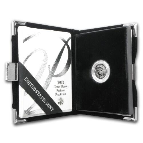 SKU #8841 w//Box /& COA 2002-W 1//10 oz Proof Platinum American Eagle