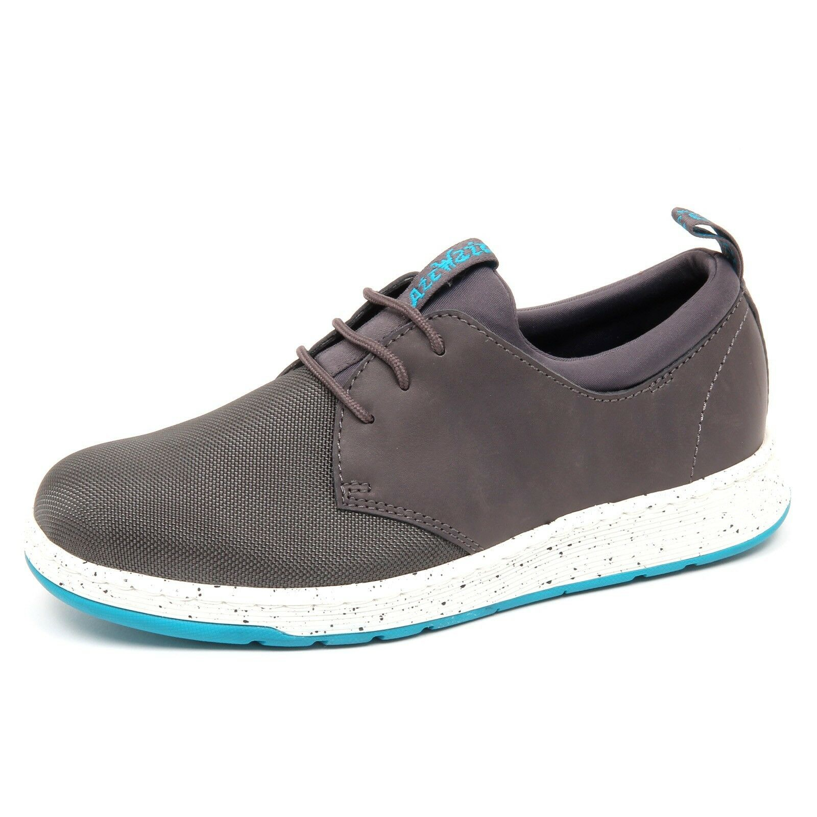 D7414 (without box) sneaker uomo grey leather/tissue DR. MARTENS shoe man
