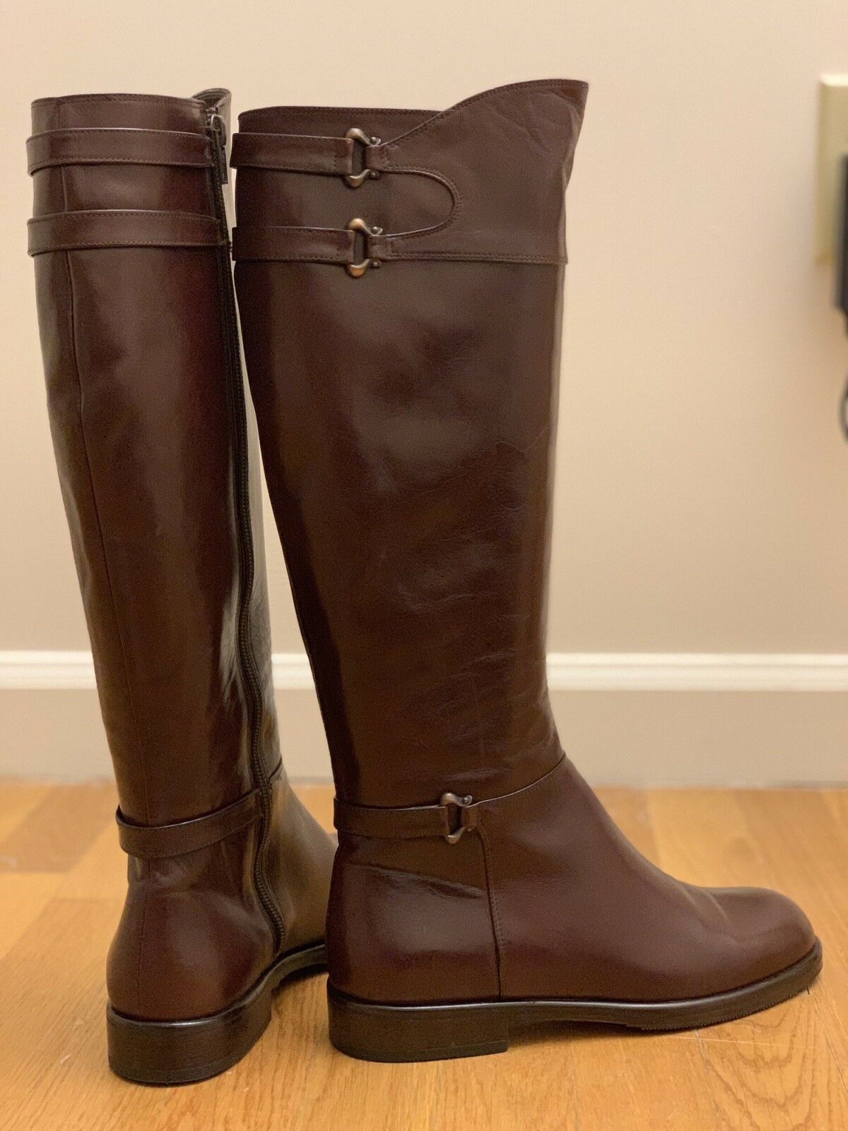 Bally Vintage Brown Italian Leather Boots - Size US 6.5 EU 37