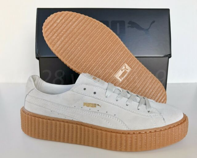 NEW PUMA FENTY BY RIHANNA CREEPERS SUEDE STAR WHITE MEN S SHOES ALL SIZES 3be8e4b076