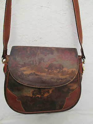 Original sac à main bandoulière GREEN HILLS   made in Italy TBEG   bag vintage