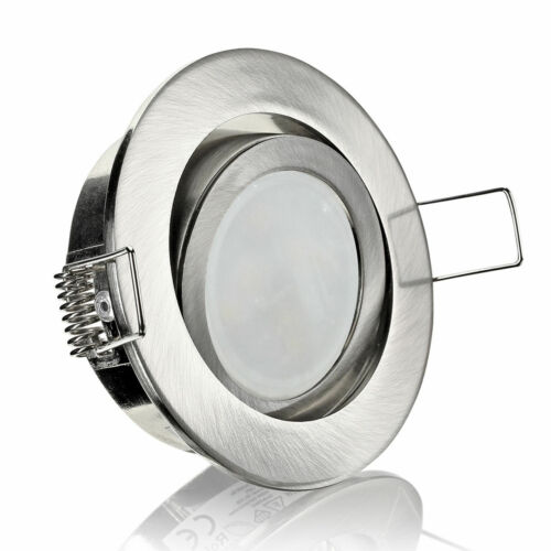 Eisen-geb. 5er-Set LED Einbaustrahler Rund