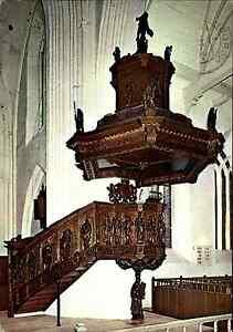 Kirchen-amp-Religion-Motiv-AK-Ludgeri-Kirche-in-NORDEN-mit-Kanzlei-von-R-Garrelts