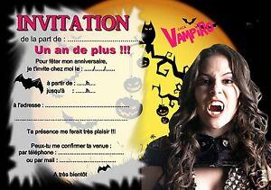 5 Ou 12 Cartes Invitation Anniversaire Chica Vampiro Ref 329 Ebay