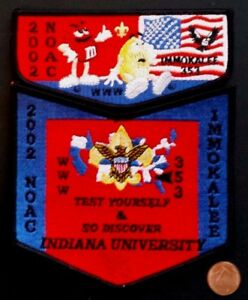 IMMOKALEE-LODGE-353-OA-CHEHAW-COUNCIL-PATCH-2002-NOAC-M-amp-M-INDIANA-UNI-FLAP