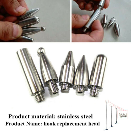 5x Stainless Auto Puller Push Rods Car Replace Head Adapter Dent Removal Repair
