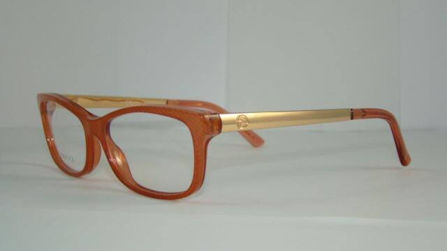 6a9ef70c801 GUCCI GG 3678 4WS CORAL RED   GOLD + GUCCI CASE Frames Eyeglasses Size 52