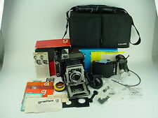 GRAFLEX CENTURY GRAPHIC 2x3 Camera w/100 F/3.5 Tessar, Gorgeous Set - BOXED