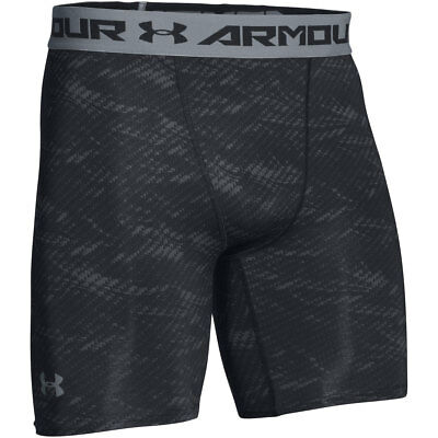 "UNDER ARMOUR HeatGear Cool Switch Compression 6/"" White Grey Shorts Mens Sz S M"