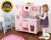 Kidkraft Pink Vintage Kitchen, Kids Wooden Play Kitchen