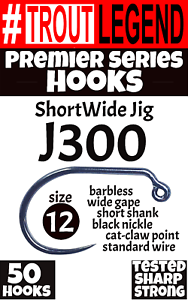 50packs Baits, Lures & Flies J300 ShortWide TroutLegend