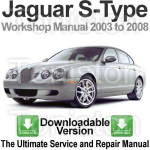 Jaguar S-TYPE 1999-2008 Werkstatthandbuch Workshop Manuell Auto ...