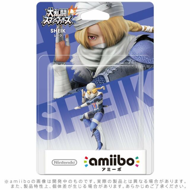 Nintendo Amiibo Sheik Figure Super Smash Bros. Nintendo Wii U Japan Import