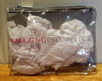 Amazing Cosmetics Clear Vinyl Cosmetic Bag. Zipper Top