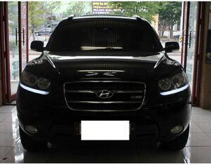 Front-Head-Light-Under-Eyeline-Surface-Emitting-Cover-for-Hyundai-10-12-Santa-fe