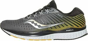 Saucony-S20548-45-Men-039-s-Guide-13-Grey-Yellow-Running-Shoe