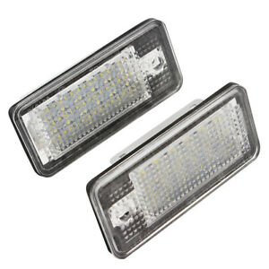 2x 18-LED Car License Number Plate Light Lamp For Audi A6 C6 S6 A4 S4 B6 B7 A8S8