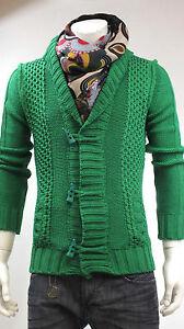 IMPERIAL Maglia cardigan alamari Uomo slim verde Art.M3614NITA Sconto 55/% tasche