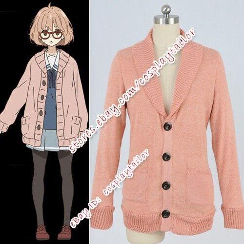 Beyond The Boundary Cosplay Kyoukai No Kanata Mirai Kuriyama Costume Sweater New