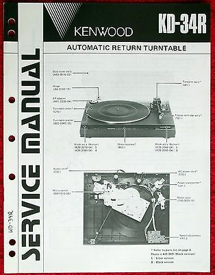 Record Deck Kenwood KD-34R Brand New Drive Belt replacement