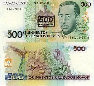 BRESIL-500-CRUZADOS-NOVOS-orchidee-BRAZIL-Pick226b-A-Ruschi-Oiseau-1990
