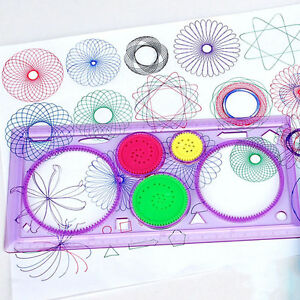 1x-Spirograph-Geometric-Ruler-Drafting-Tools-Stationery-Drawing-Toys-Set-UK-NT