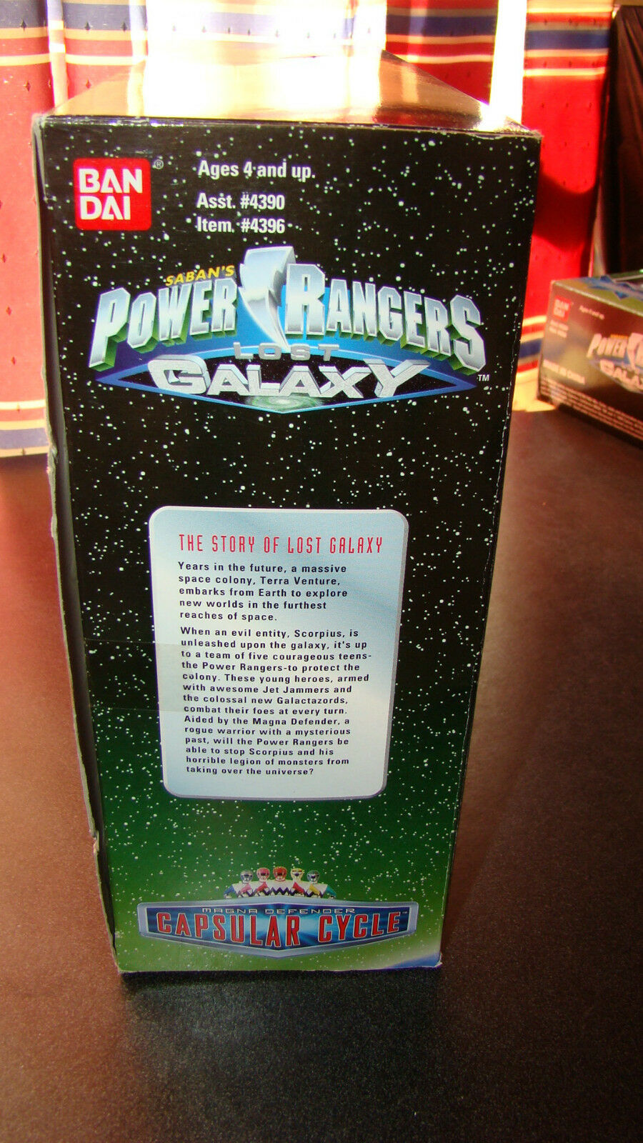 Power Rangers Lost Galaxy Magna Capsular Capsular Capsular Cycle With Instructions RARE 885e70