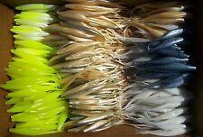 "40ct ASSORTMENT 5"" SUPER FLUKES Bass Lures,Soft Plastic JerkBaits,Topwaters,Shad"