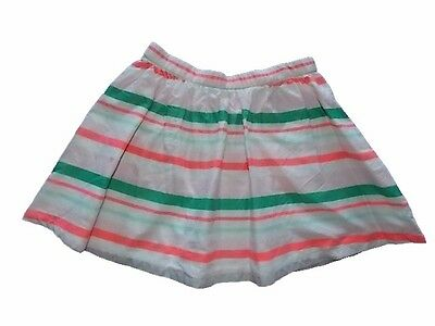 NWT Girls Gymboree Bright and Beachy pink white striped elastic skorts skirt~  6