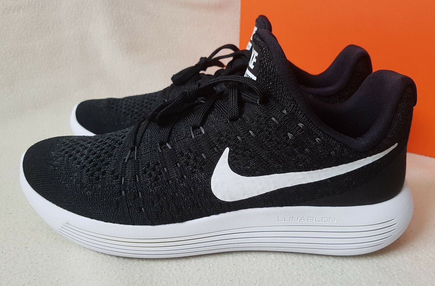 NIKE LUNAREPIC LOW FLYKNIT 2 TRAINERS SNEAKERS RUNNING noir 863779 001 RRP £140